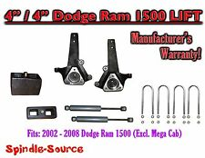 "2002 - 2008 Dodge Ram 1500 2WD 4"" Front 4"" Rear Spindle Lift Kit W/ REAR SHOCKS"