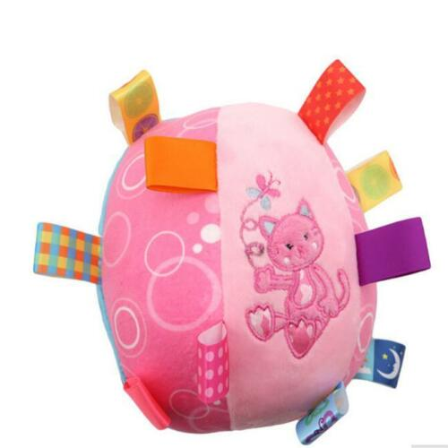 Baby Rattle Toy Soft Plush Toy Crawl Ball Stroller Toy Stuffed Rattle Toy 7N