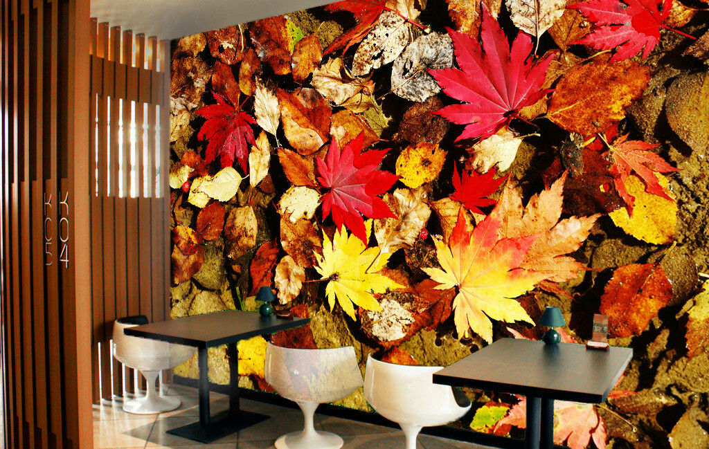 3D Maple Leaves 785 Wall Paper Murals Wall Print Wall Wallpaper Mural AU Summer
