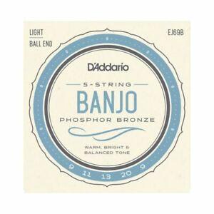 DéSintéRessé Banjo Cordes D'addario Ej69b-chaîne 5-phosphor Bronze Light 9-20 - Ball End-afficher Le Titre D'origine Soyez Amical Lors De L'Utilisation