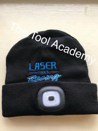 RACING USB RECHARGEABLE BEANIE HAT WOOLY 3 LED SWITCH LIGHT REMOVABLE FOR WASH!