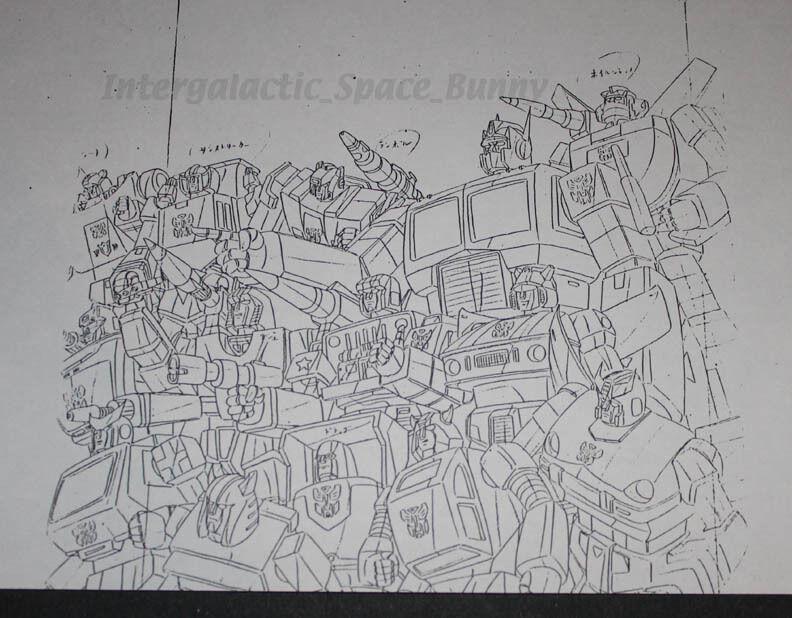 1984 Takara Transformers TV Magazin Interne Kunst Kopie Carbot Gruppe