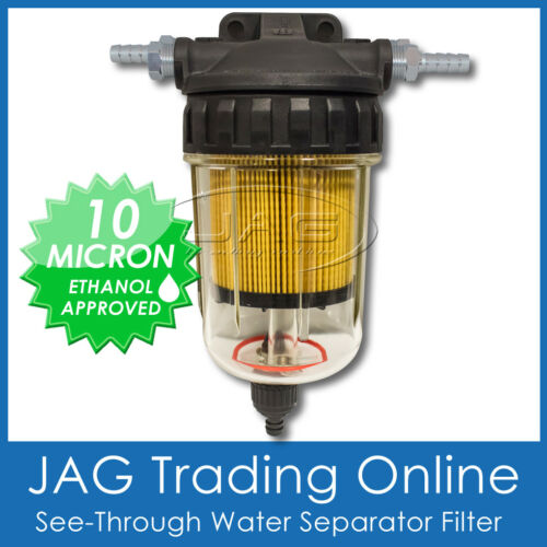 QUICKVIEW MARINE//BOAT WATER SEPARATOR FUEL FILTER KIT SEE-THROUGH CANISTER BOWL