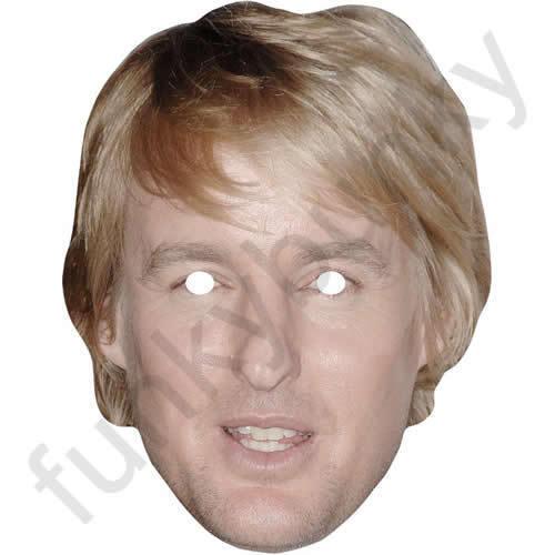 Owen Wilson CELEBRITA 'ATTORE Divertimento Scheda Maschera-tutte le nostre Maschere sono pre-tagliati!