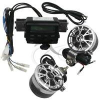 Motorcycle Sound System Handlebar Mount 2 Speakers Fm Radio Audio Mp3 Stereo 12v