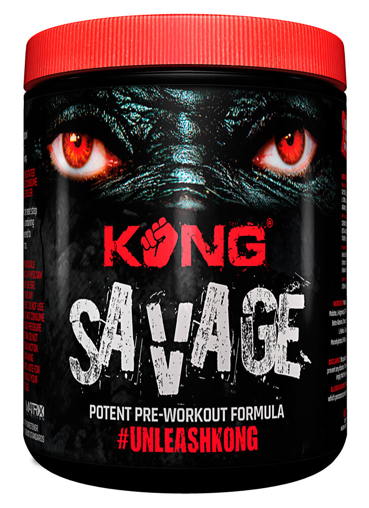 POTENT PRE-WORKOUT FORMULA KONG SAVAGE - EXTREME FOCUS - orange FLAVOUR - 350G