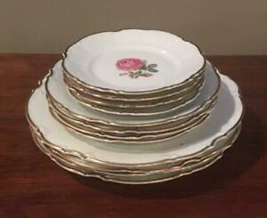 VINTAGE Hutschenreuther China (1962) THE DUNDEE Selb Germany Pasco 12-Piece Set