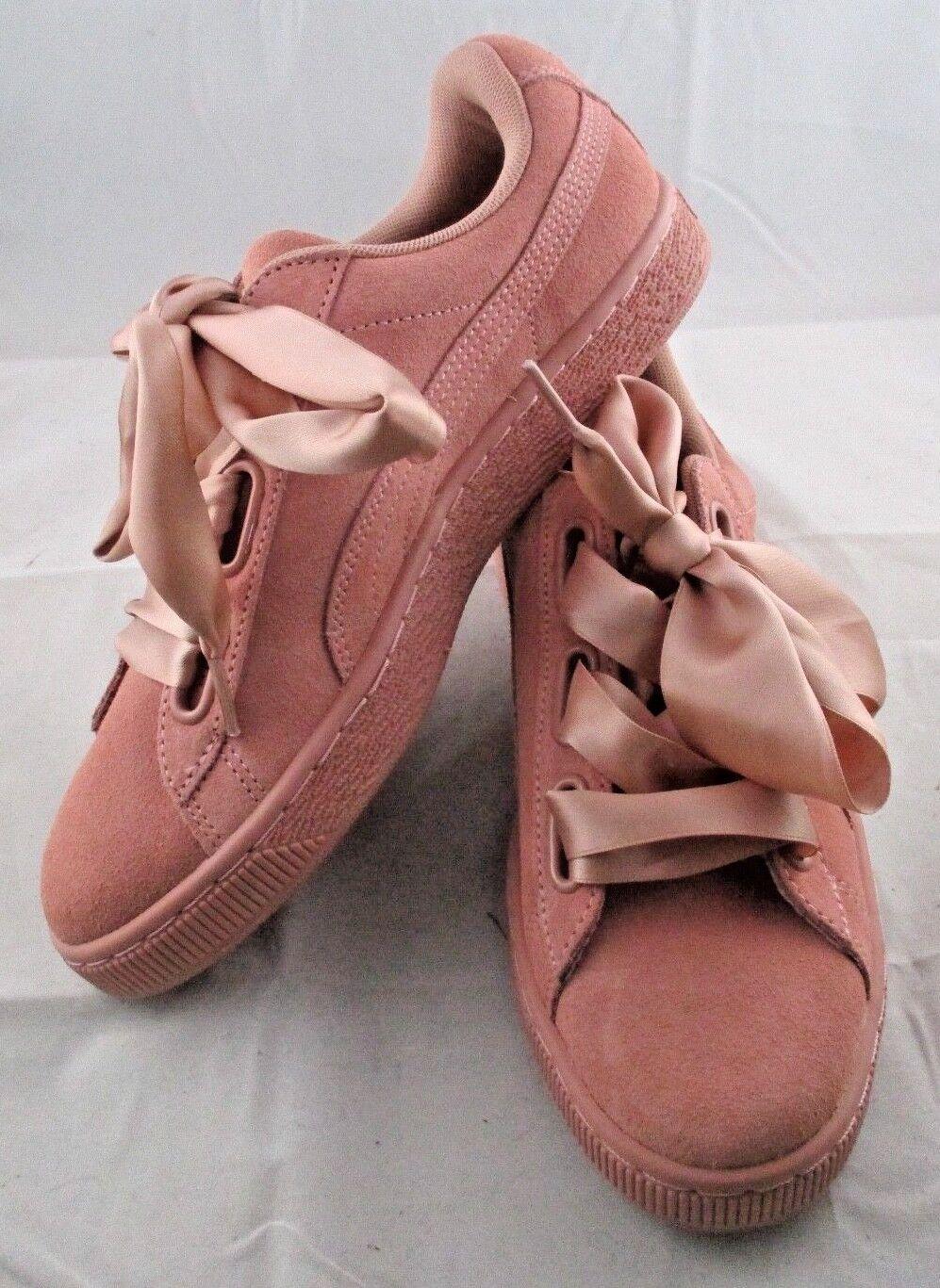 Le donne sono sz 9 scarpe puma cameo marrone scamosciato cuore raso ii [03] nuove 364084