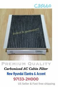 For 2007 13 Elantra 11 Accent Ac Carbonized Cabin Filter