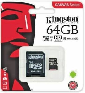 Kingston-64GB-Micro-SD-SDXC-MicroSD-TF-Class-10-64G-64-GB-Advanced-Memory-Card