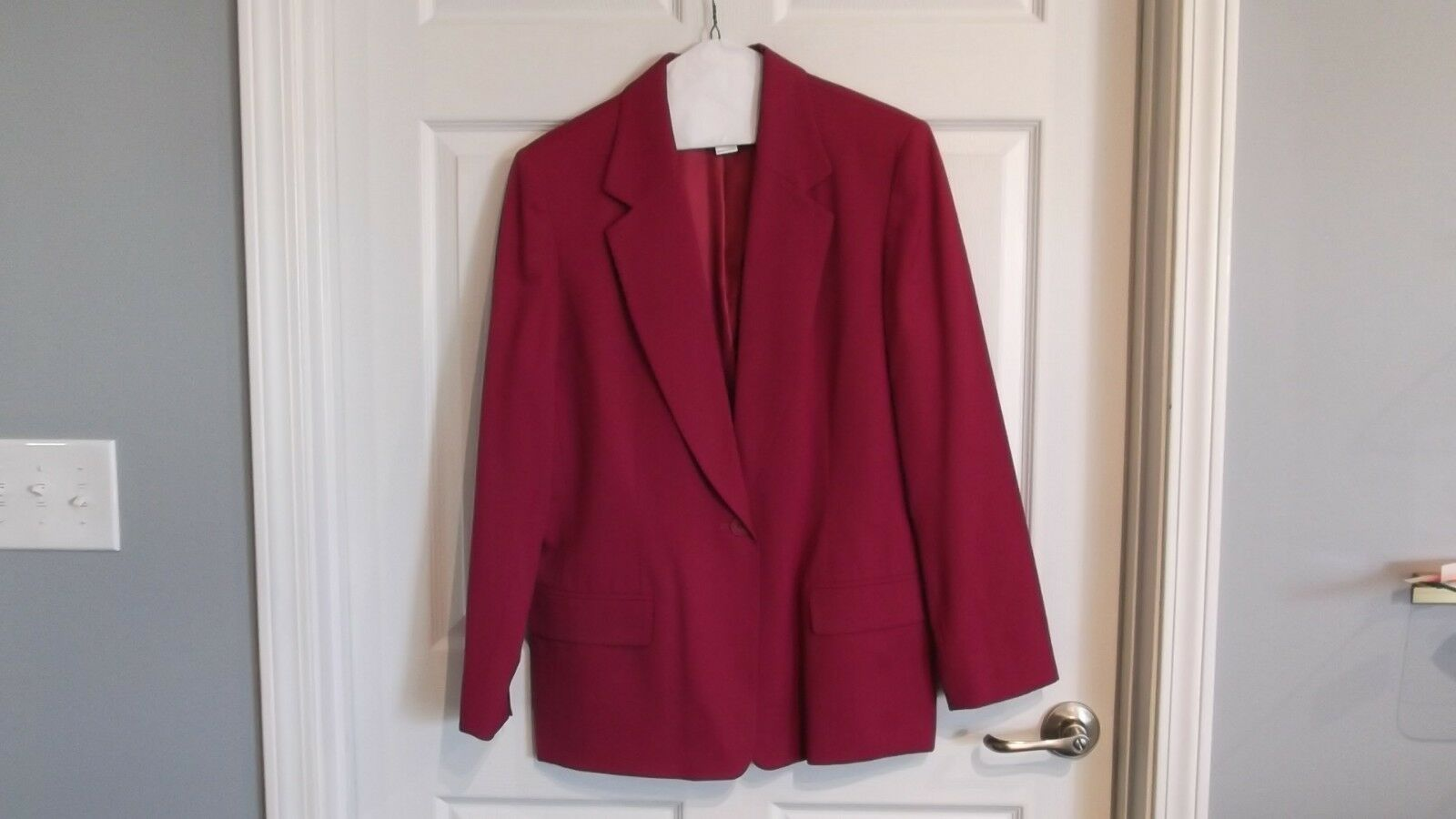 EUC Pendleton womens 12 long sleeve fully lined blazer pink color 100% wool -