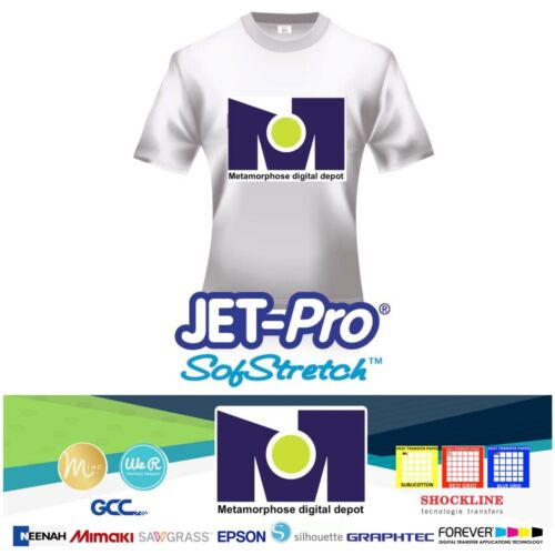 "SOFSTRETCH INKJET IRON ON HEAT TRANSFER PAPER NEENAH JET PRO SS 8.5 X 11/"" 100 PK"