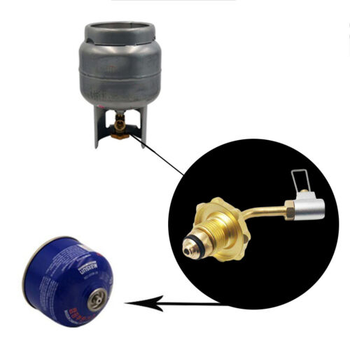 Outdoor Camping Gas Stove Propane Refill Adapter Gas Flat Cylinder Tank Coupler