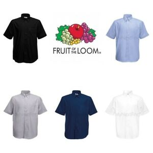 Fruit-of-the-Loom-Oxford-Short-Sleeve-Shirt