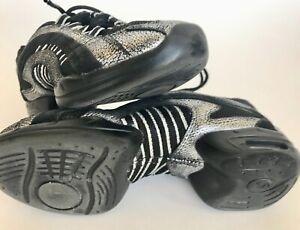 Skazz-by-Sansha-black-silver-dance-shoes-sneakers-women-039-s-5-gently-used