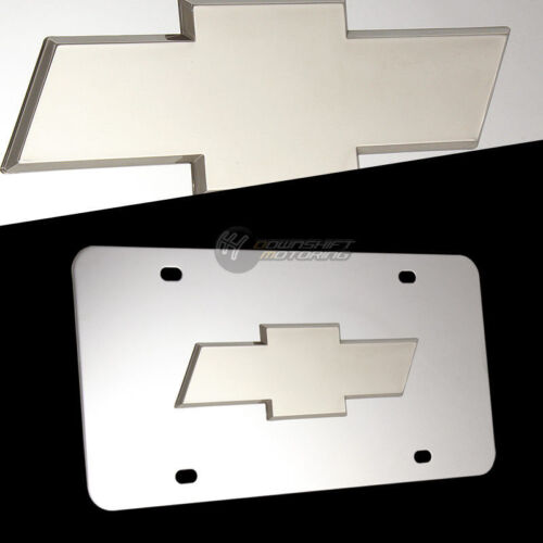 Chevrolet Stainless Steel License Plate Frame 2PCS Front /& Back Set AUTHENTIC