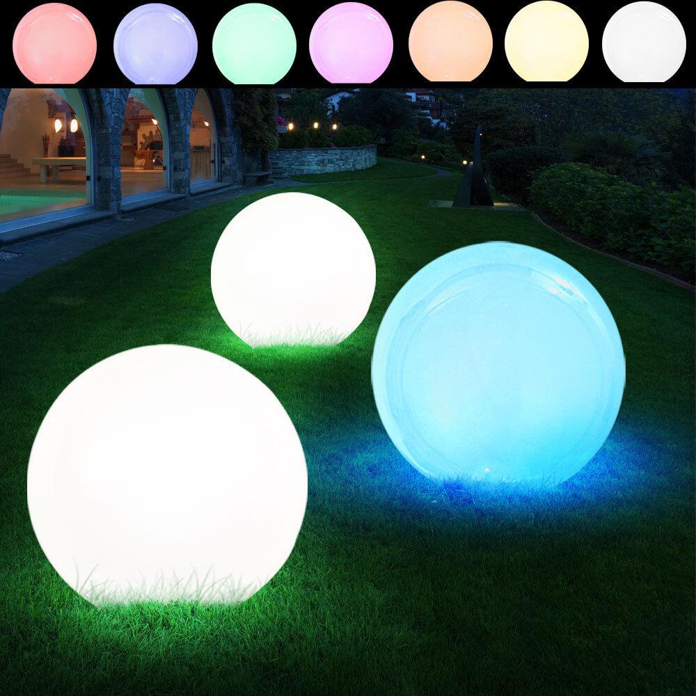 3er set LED bala luces solares RGB stand iluminación exterior stecklampen decorativas