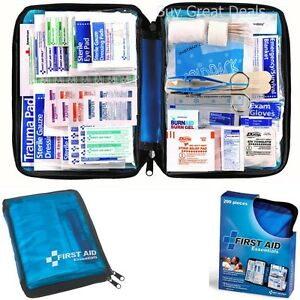 Red Cross First Aid Kit American Survival Bag Set for Car Home Supplies 299 pcs