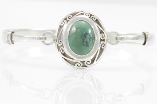 Turquoise Bangle Jewelry Genuine 925 Sterling Silver Artisan Handcrafted