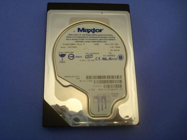 """Maxtor DiamondMax Plus 8 40GB 3.5""""  IDE Hard Drive  6E040L0510211 AAA"""