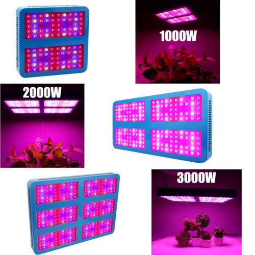 1000W 2000W 3000W LED Grow Light Lamp Full Spectrum For Indoor Plant Veg Growing