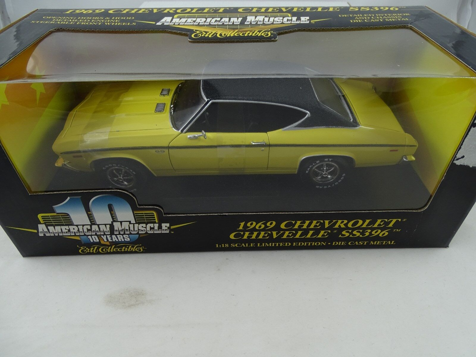 1 18 ERTL - 1969 Chevrolet Chevelle SS396 Yellow-Lmtd. EDT. - Rarity §