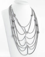 Bcbgeneration 'starlight' Knotted Antiqued Silver-tone Layered Necklace $48