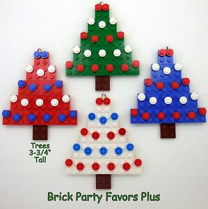 4 lego custom christmas holiday tree ornament decorations custom