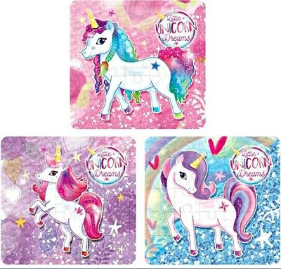 15 girls mini UNICORN JIGSAW PUZZLE kids toy Party Bags Filler gift