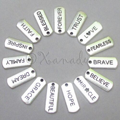 Inspirational Message Wholesale Charms 15PCs Mix CL1001-15 45 Or 60PCs 30