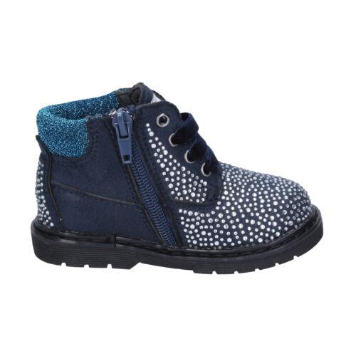 Mädchen schuhe ASSO 24 EU desert boots blau wildleder strass BT297-24