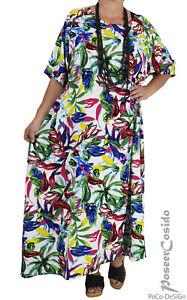 PoCo DeSiGn LAGENLOOK Kleid weiß bunt XL-XXL-XXXL 44 46 48 ...