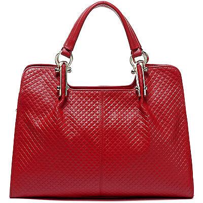 "Thompson Luxury Bags ""Melissa"" Rhombus Leder Tasche rot Handtasche UVP 198 € NEU"
