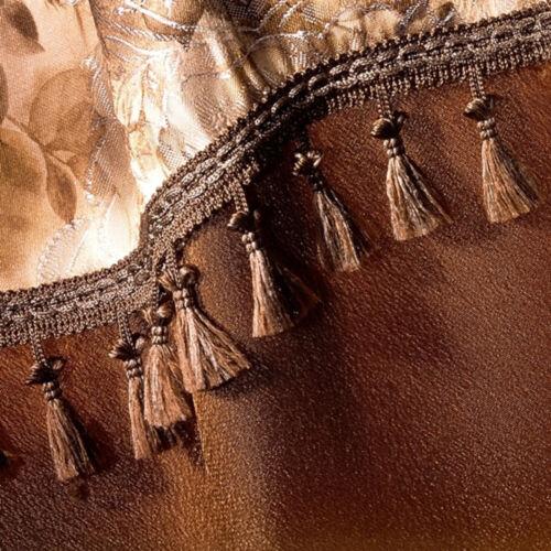 Marrón de 55mm De Ancho Con Flecos Ribete Recorte Costura Manualidades Cortinas Cojines 299
