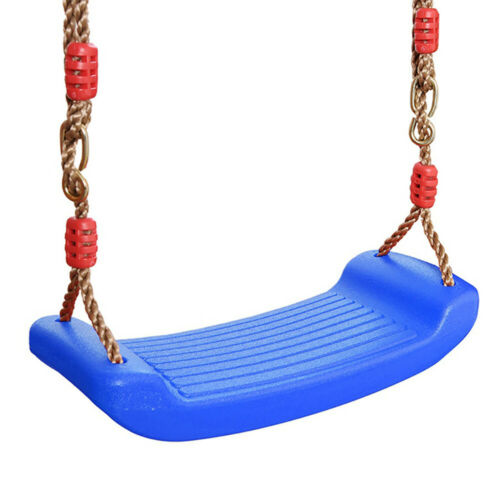 Kids Garden Swing Seat for Climbing Frame in Purple With Height Adjustable Ropes