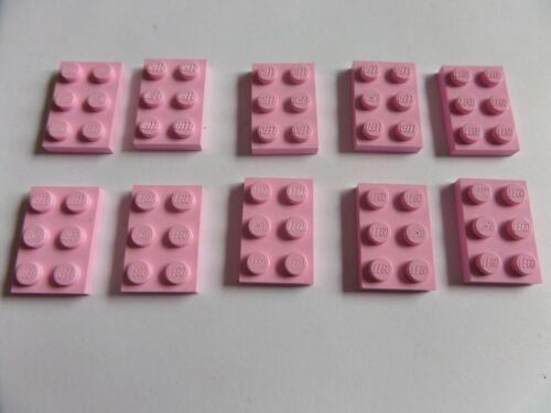 Bright Pink gebraucht 6102999 10 Stück 3021 Lego Platte 2x3 Rosa