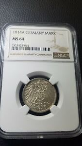 Germany 1914A Mark UNC NGC MS64