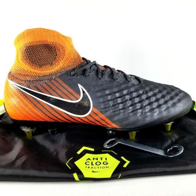 Nike Magista Obra 2 Elite DF SG PRO Soccer Clests SZ 10.5 Mens Boot Orange  Black 70204e176f4c5