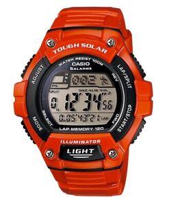 Casio-Watch-WS220C-4AV-Tough-Solar-Power-120-Lap-Orange-Resin-COD-PayPal