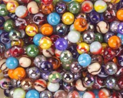 5//8 Lot of 25 Fall Classic Rosso Glass Jabbo Assorted Marbles