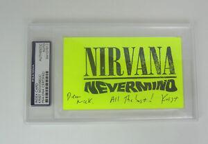 Krist-Novoselic-Nirvana-Signed-Autograph-Index-Card-PSA-DNA-Slabbed-COA