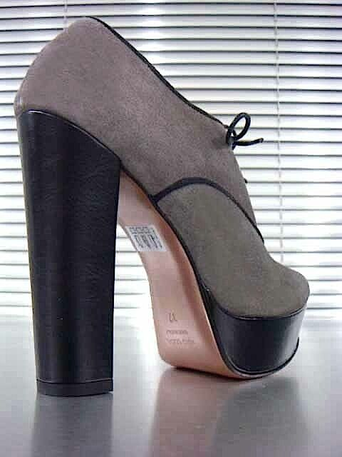 MORI ITALY SEXY HIGH HEELS ANKLE Schuhe BOOT STIEFEL LEATHER PUMPS LEATHER STIEFEL GREY GRIGIO 40 367971
