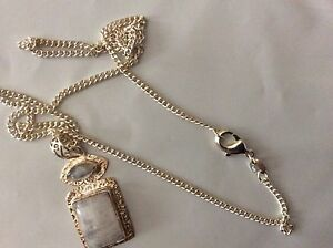 Pendant-And-Chain-Nice-Aquamarine-9gms-Sterling-Silver