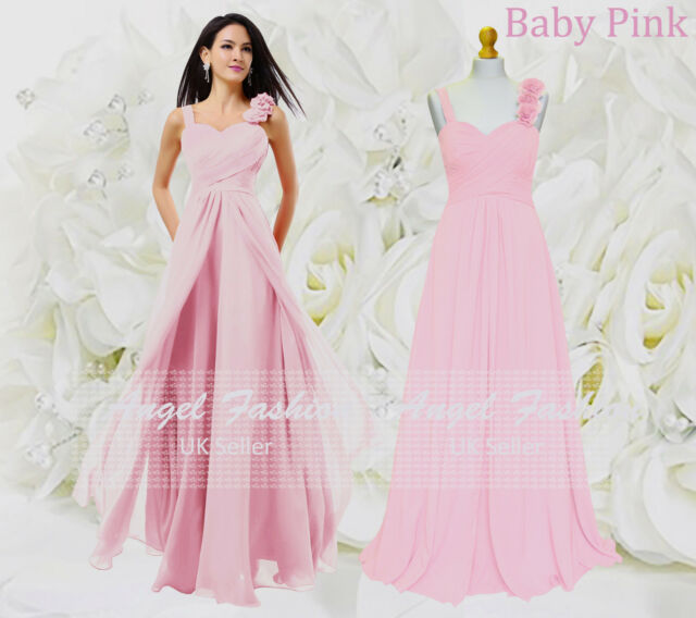 ed6edaca1be Formal Chiffon Long Evening Ball Gown Party Prom Wedding Bridesmaid ...