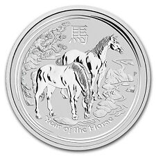 2014 1 Kilo Silver Australian Perth Mint Lunar Year of the Horse Coin-SKU #78053