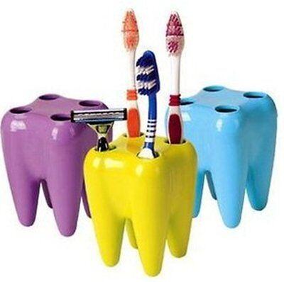 Funny Tooth shape Toothbrush Shaver Razor Holder Seat Rack