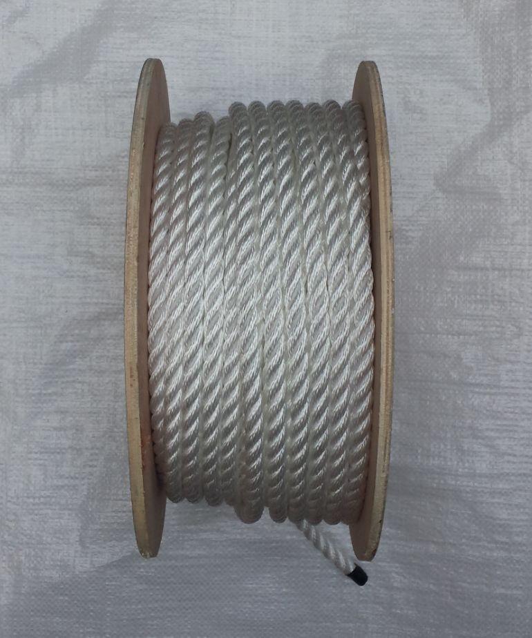 50 metros x 12mm blancooo Poly Suave Línea Cuerda en un carrete, BARCOS, Yates ,
