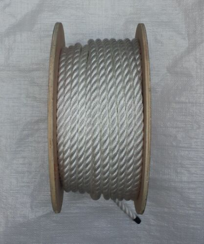50 METRES X 12MM WHITE POLY SOFT LINE ROPE ON A REEL, BOATS, YACHTS, MOORINGS