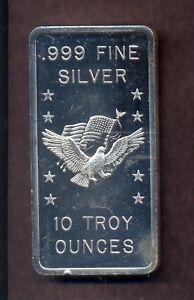 Apm Eagle 10oz Silver Bullion Bar 999 Fine Ebay