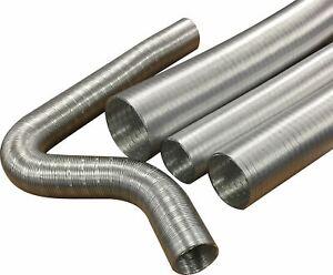 Revotec Semi Rigid Aluminium Air Ducting Hose  51mm ID x 1m (AD51)